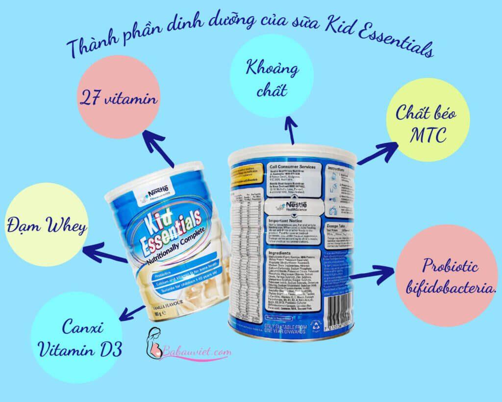Sữa Kid Essentials có tốt không ? 14