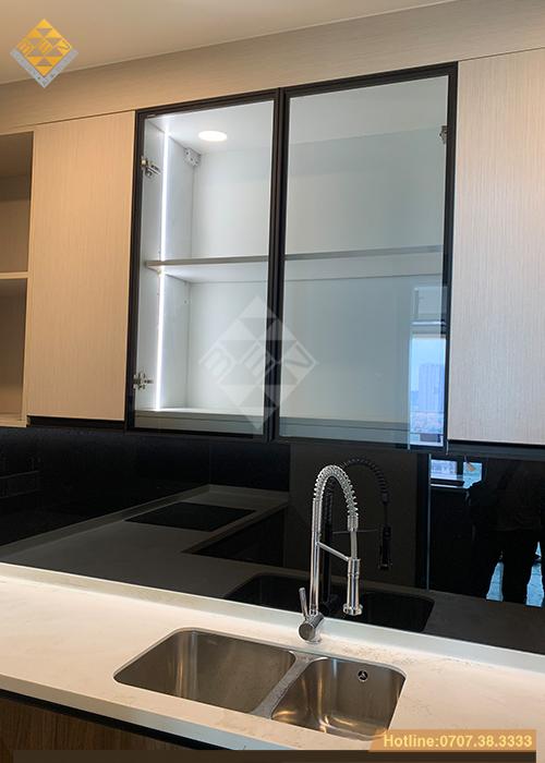 Tủ bếp cánh kính xu thế mới - phong cách nội thất hiện đại 13