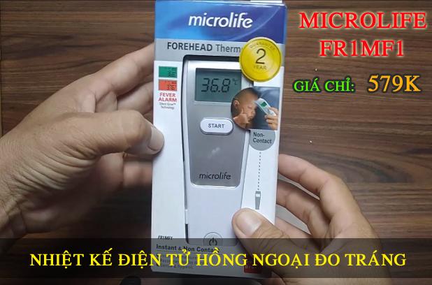 Mở hộp Nhiệt Kế Điện Tử Hồng Ngoại Đo Trán Microlife FR1MF1