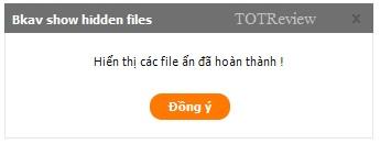 [Hướng dẫn] - Phục hồi file ẩn với phần mềm miễn phí Bkav FixAttrb 8