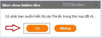 Phục hồi file ẩn với phần mềm miễn phí Bkav FixAttrb