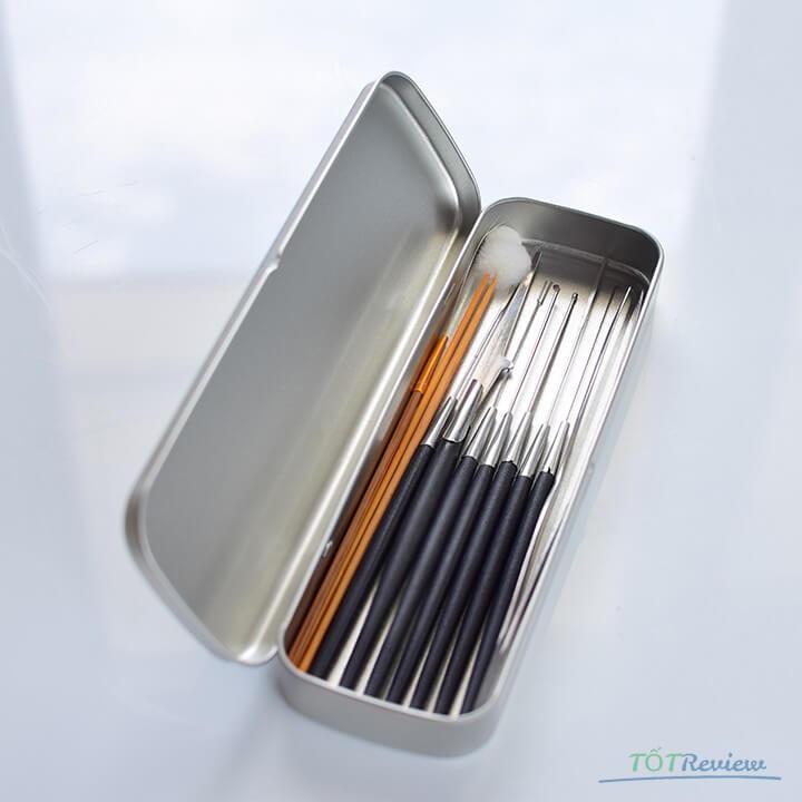 Dụng cụ lấy ráy tai 10 món hộp Inox