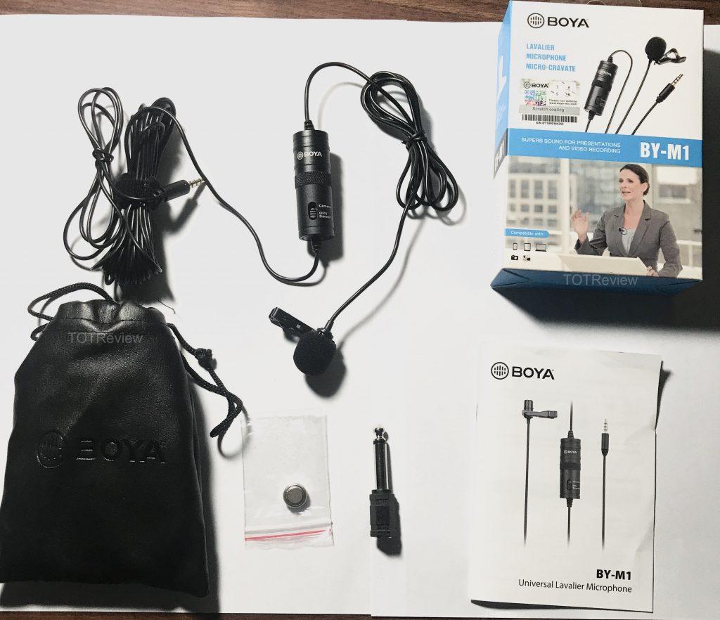 Về thiết kế Micro thu âm cài áo Boya By M1