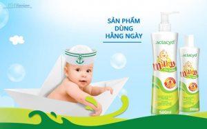 Sữa tắm cho trẻ sơ sinh Lactacyd Milky