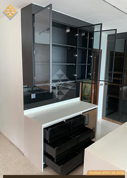 Tủ bếp cánh kính xu thế mới - phong cách nội thất hiện đại 10