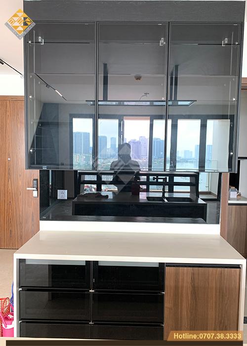 Tủ bếp cánh kính xu thế mới - phong cách nội thất hiện đại 11